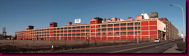 The former Ford Model T plant in Highland Park, Michigan
