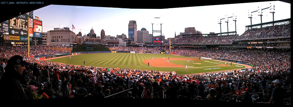 Comerica Park Home Of The Detroit Tigers Panoramic View
