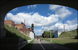 Dequindre Cut Extension in Easter Market Detroit