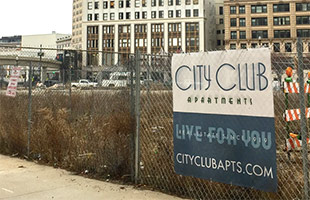 City Club Apartments in downtown Detroit Michigan