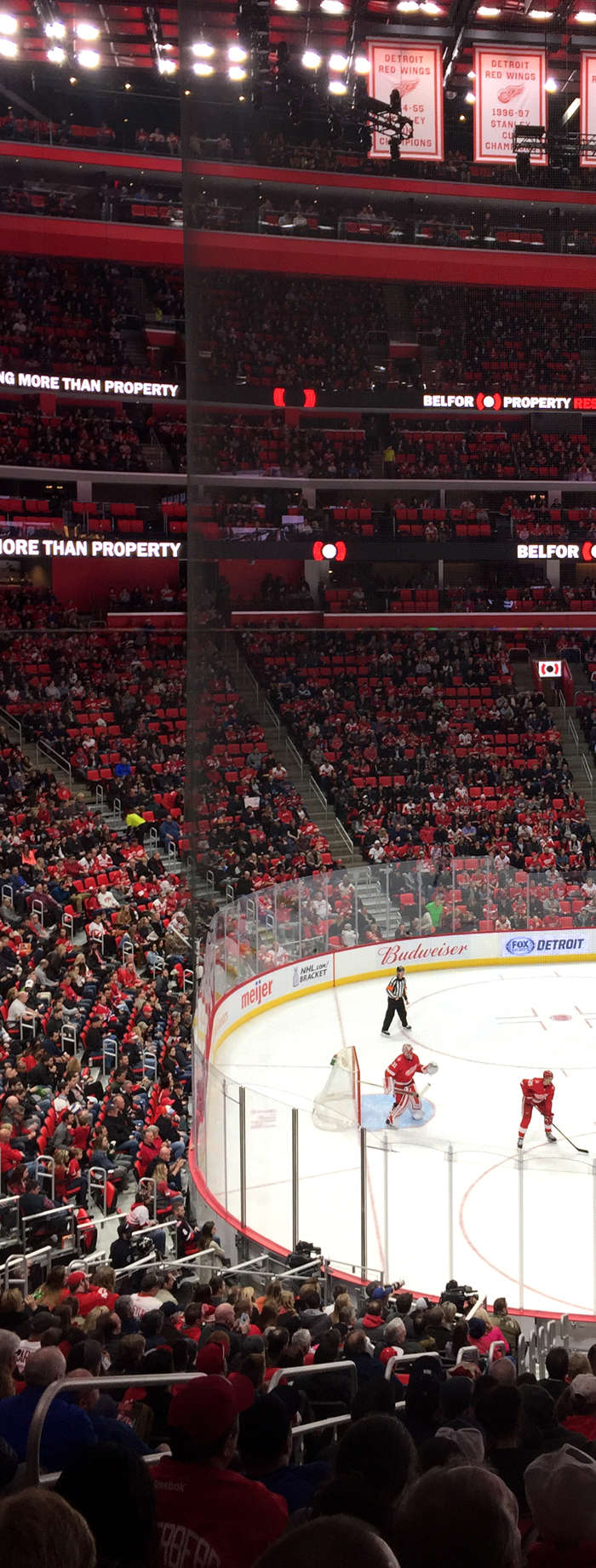Little Caesars Arena-Cramped Upper Seats, Steep Stairs-Generally