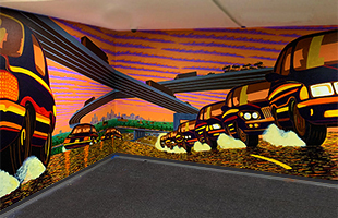 TCF Center Mural by Lowell Beoileau 2020