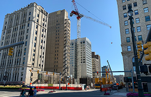 TCF Bank Construction Detroit